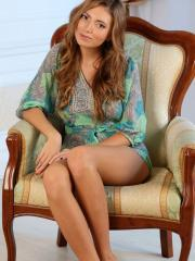 """Pretty girl Kathleen G strips naked for you in """"She Wants"""""""