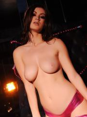 Hot babe Summer St Claire strips for you in the vip lounge