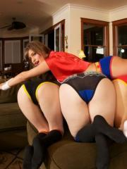 Hot coeds have a naughty cosplay party