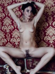 Goth model Nia strips out of her black lingerie to seduce you with her tight body