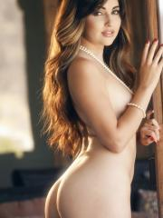 Stunning girl Natasha Malkova gets hot and bothered while touching her body