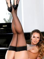 Tori Black can't wait to get naked and play with her lush pussy