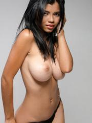 Busty latina Lea gets naked for you in her casting set