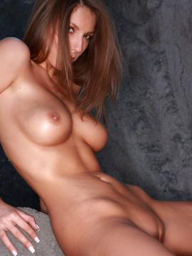 """Brunette hottie Lizzie Ryan exposes her tits and pussy in """"Stones"""""""