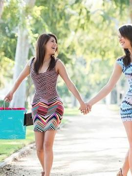 Pictures of Shyla Jennings getting it on with her hot lesbian friend