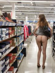 Pretty coed Patience Dolder flashes in public