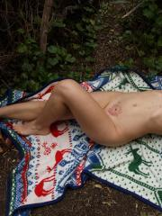 """Busty blonde Ira Greene strips naked for you outside in """"Brentwood Part 2"""""""